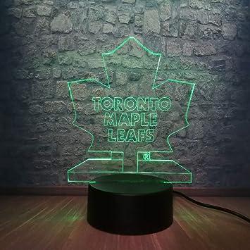 Amazon Com Jfsjdf 3d Illusion Led Lamp Atmosphere Night Light Hockey Toronto Maple Leaf Rgb Lighting Holiday Gifts Toy Flash Party Home Decor Baby