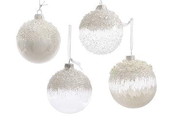 Christbaumkugeln mit perlen verzieren