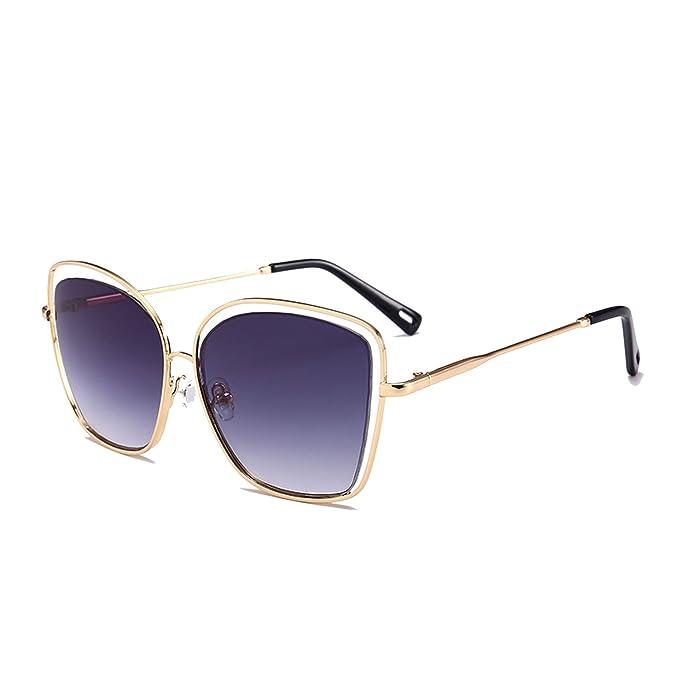 Amazon.com: Gafas de sol huecas para hombre, diseño de gato ...