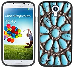 Turquoise Stones Indian Jewelry Photo Samsung Galaxy S4 Black Bumper Hard Plastic Case by lolosakes