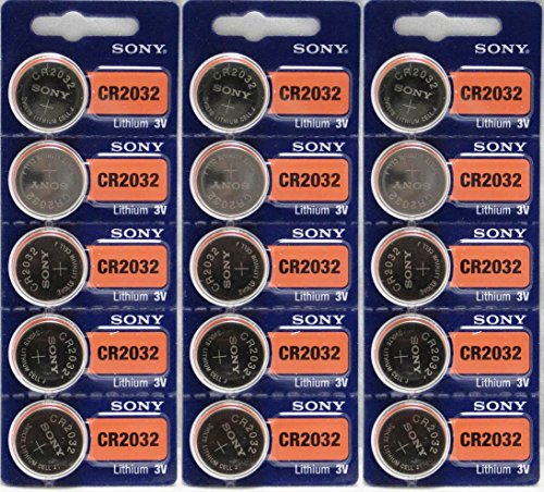 Lithium Battery Shelf Life - Sony CR2032 3V Lithium 2032 Coin Battery, 15 Pack