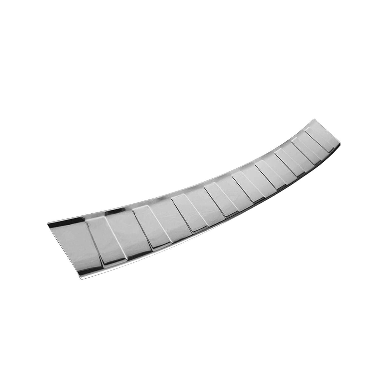 Sto/ßstangenschutz Silber Glanz Ladekantenschutz Kofferraumschutz Edelstahl Selbstklebend Hinten Kratzschutz Ladekante Einstiegsleisten zum Kleben saferide