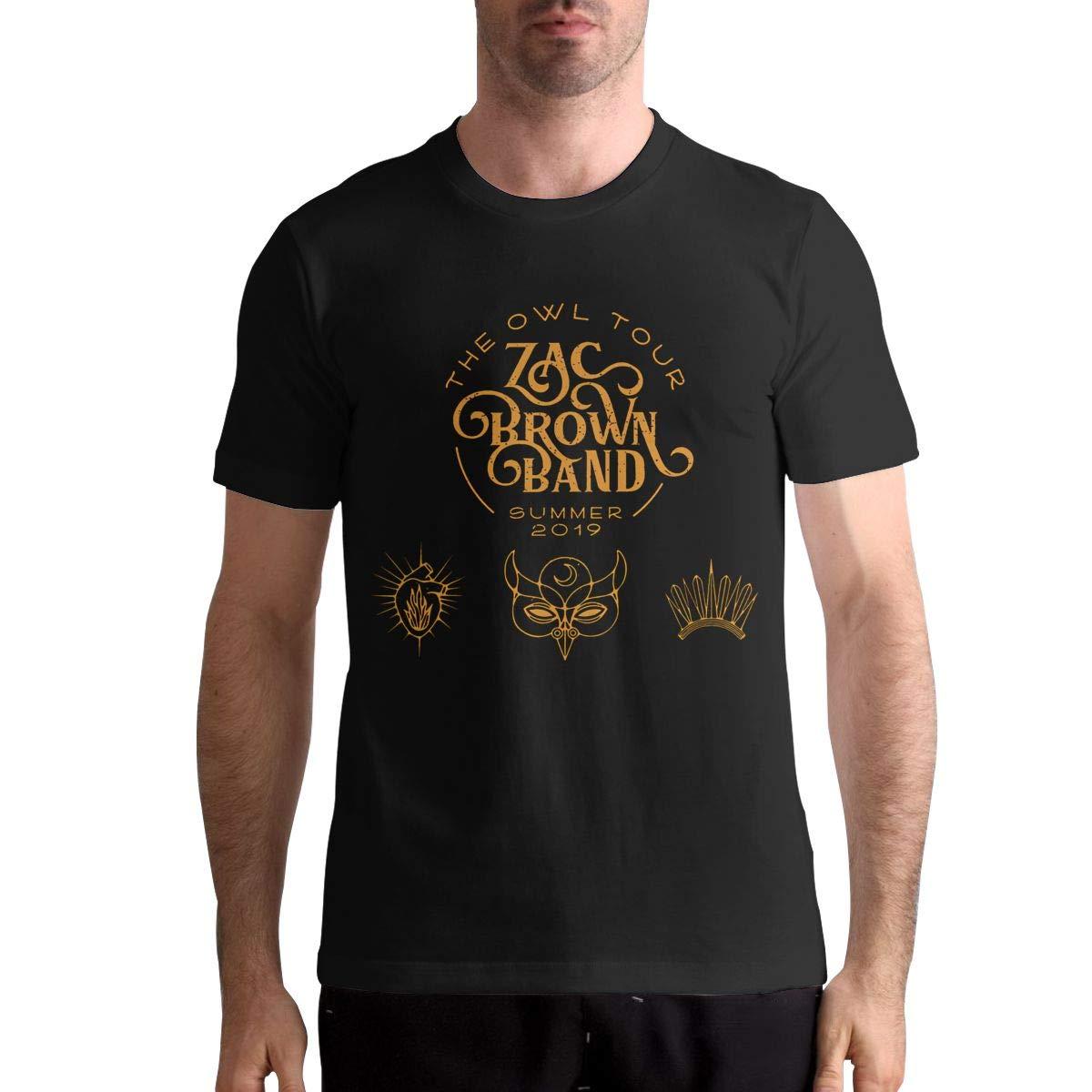 David E Everett Zac Brown Band Mens T Shirt Cotton Fashion Sports Casual Round Neck Short Sleeve Tees