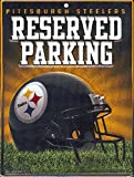 Rico NFL Pittsburgh Steelers 8-Inch by 11-Inch Metal Parking Sign Décor
