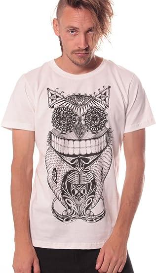 Camiseta Steampunk Búho - Ropa Urbana Divertida para Salir de Noche en algodón 100% para Hombre: Amazon.es: Ropa y accesorios