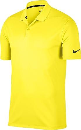 12de3e6601252 Nike sécher victoire solide Golf Polo homme (grève jaune, moyen ...