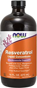 NOW Supplements, Natural Resveratrol, with Acai, Mangosteen, Pomegranate, Goji Berry, VitaBerry® & other Super Fruits, 16-Ounce Liquid Concentrate