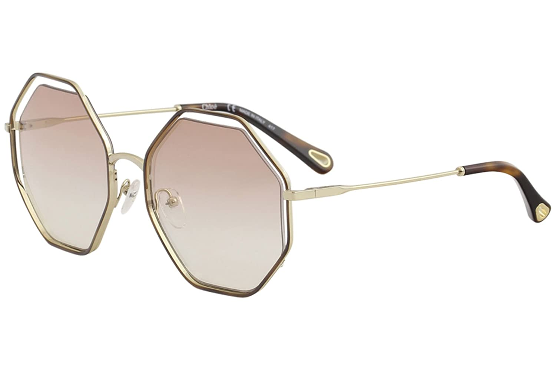 Chloè Ce132s Gafas de sol, Havana/Peach, 58 para Mujer ...