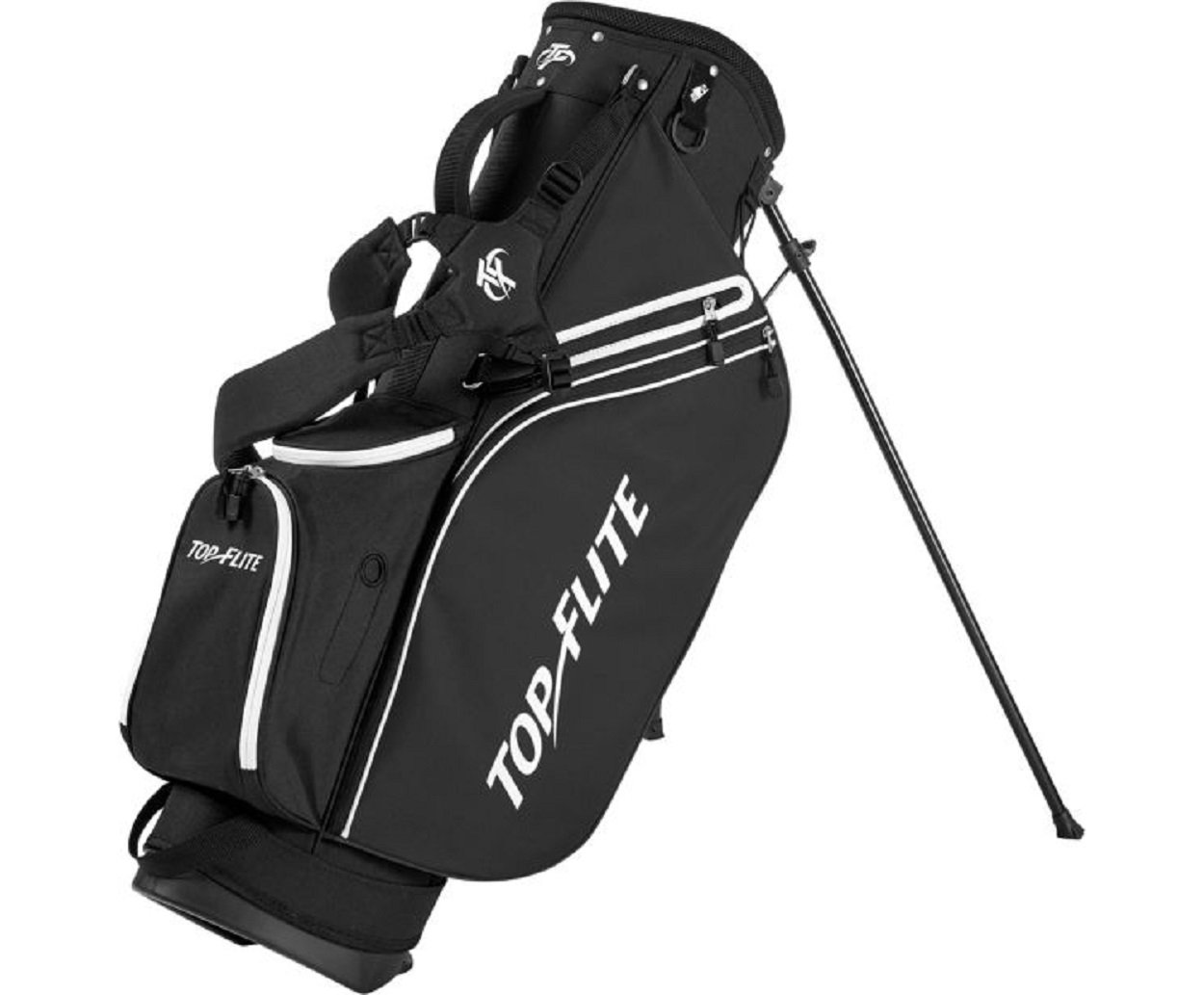 Top Flite 2018 Golf Stand Bag Mens Lightweight 8-Way Top - Black
