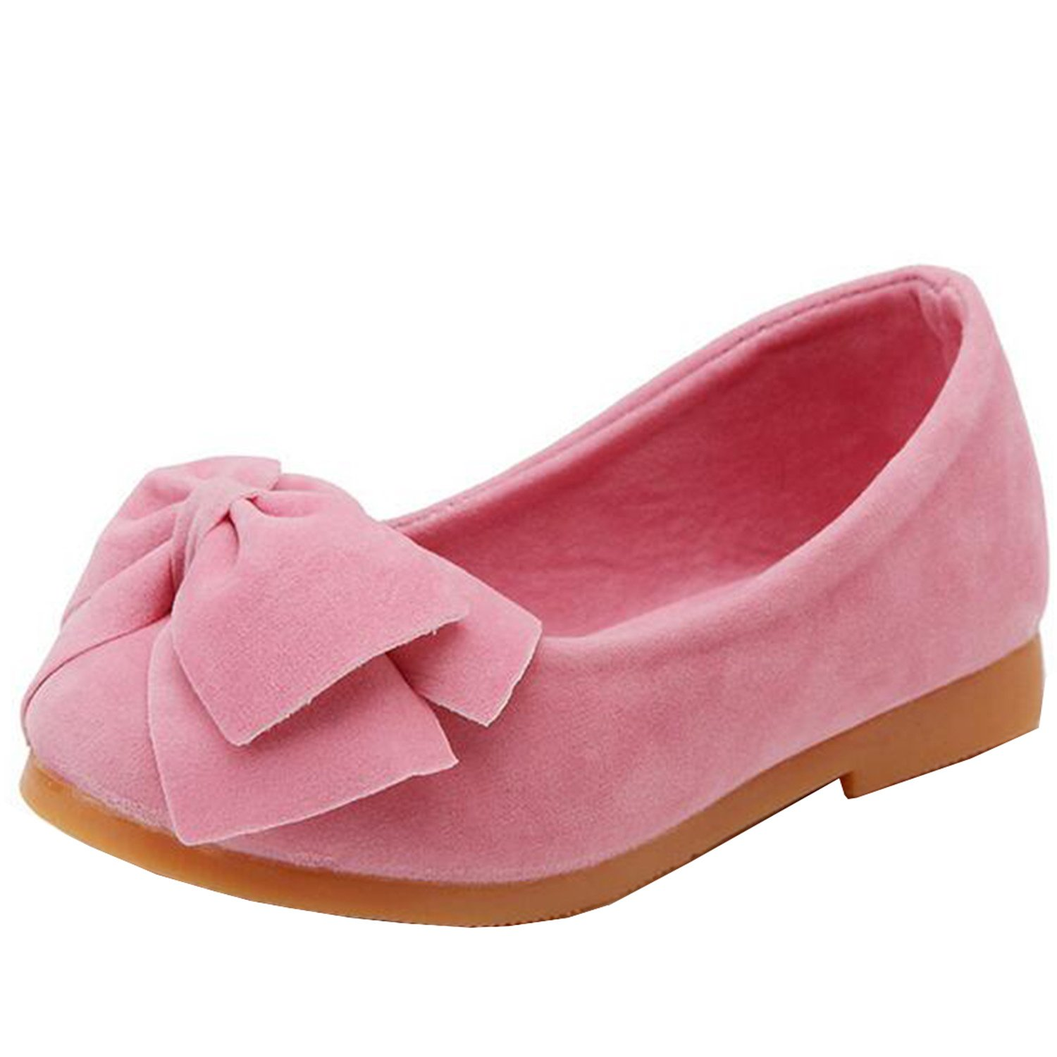 Lovirs Girls Casual Slip On Bowtie Mary Jane Flats Ballerina Flat Toddler Shoes Todd-01A