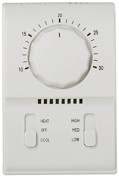 uxcell ca 220 V calor apagado frío modalidades Interruptor Soplador De Aire Calefacción Mecánico Termostato