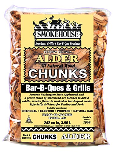 Chips Wood Smoking Alder (Smokehouse Products Alder Flavored Chunks)