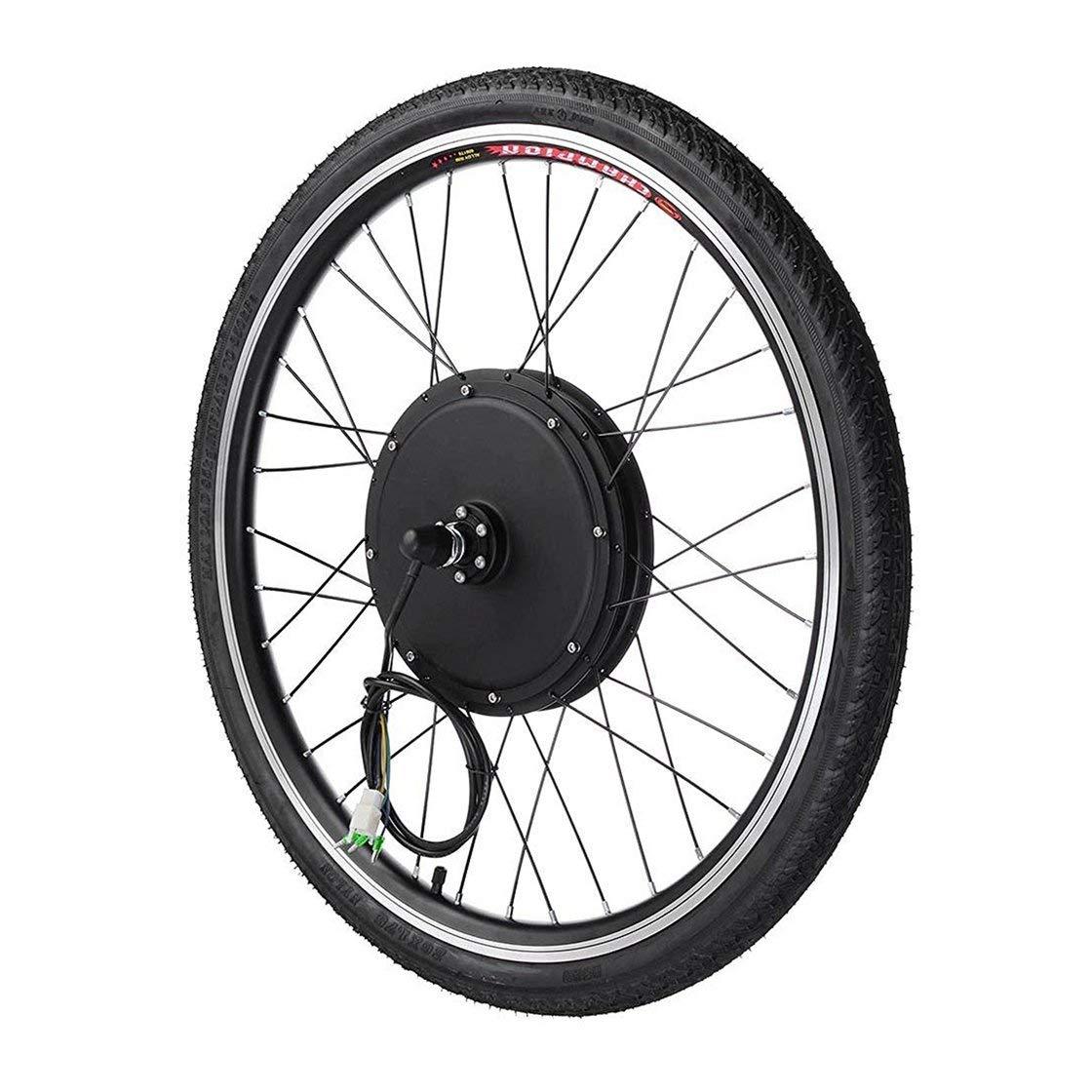 1000W 電動Eバイク変換キット 26インチ フロントホイールモーター 自転車ハブ 48V   B07HQ5YT8Z