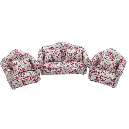 Terrific Amazon Com Binory Mini Sofa Set Fresh Flower Pattern For 1 Creativecarmelina Interior Chair Design Creativecarmelinacom