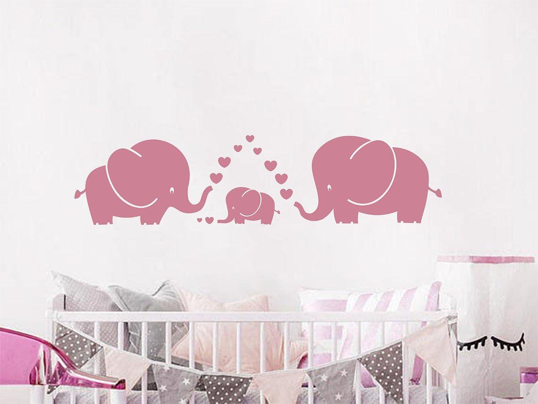 Elephants Wall Decal Set childrens removable sticker nursery art decor kids room