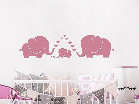 HAPPY ELEPHANT Nursery Flowers Decal Die-Cut Wall STICKER Home Decor Art Mural