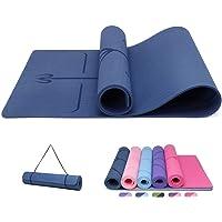 Good Nite yogamat, antislip plankenvloer Hoge dichtheid Eco-vriendelijke dikke mat, Home Exercise Gym Pilates Dikke…