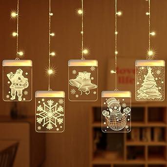 Arespark - Guirnalda de luces LED navideñas, 5 unidades, iluminación interior de Navidad, decoración exterior, jardín, balcón para boda, cumpleaños, decoración [amarillo cálido]: Amazon.es: Iluminación