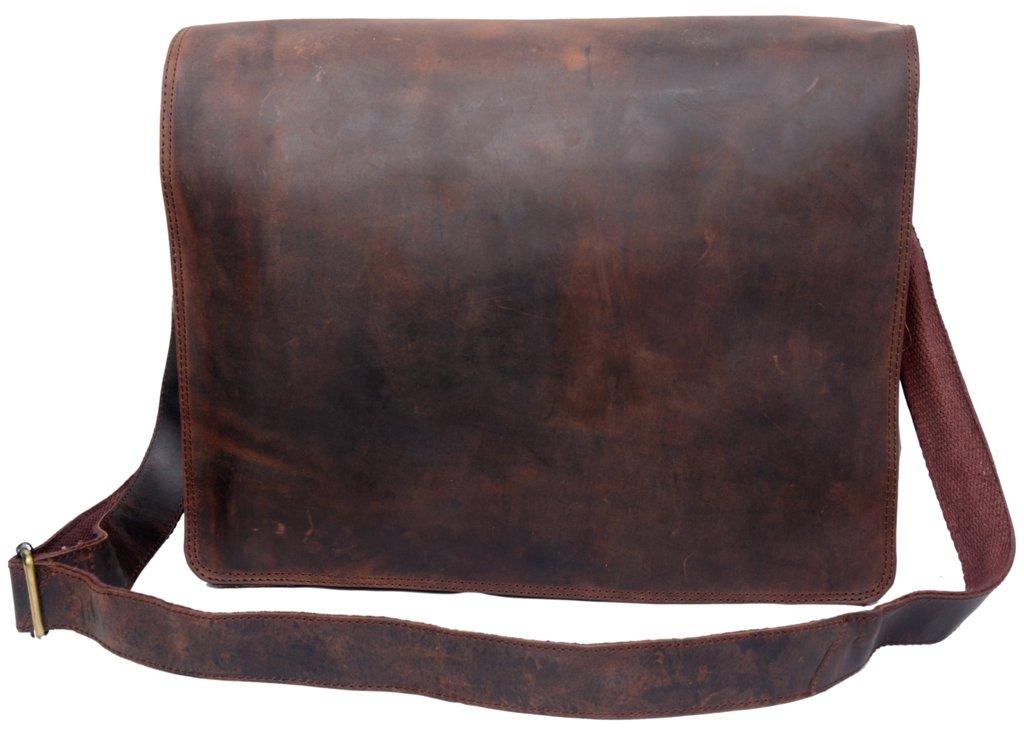 Feather Feel 15 inches Genuine Leather Satchel Women Handbag Purse Diaper Bag Crossbody Shoulder Bag Laptop Bag Macbook Satchel School Bag by Phoenix Craft
