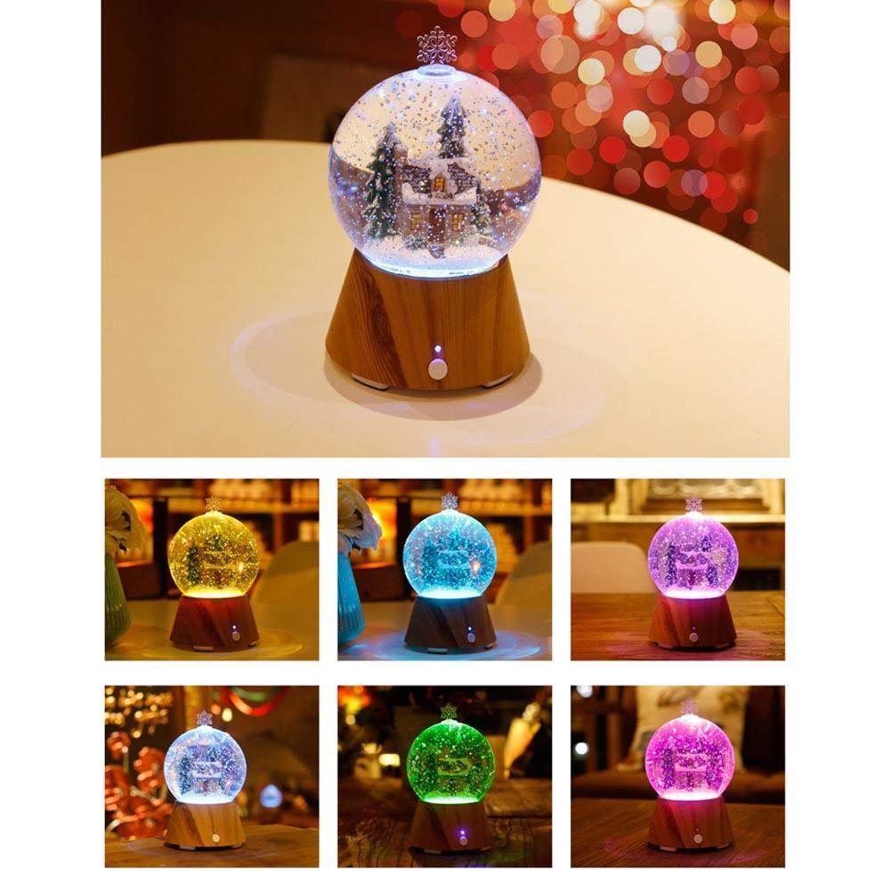 Haut-parleur Bluetooth intelligent Snow Globe de Noë l avec lumiè res coloré es et flocons de neige changeants Globe musical pour neige compatible avec divers appareils Bluetooth Meilleur cadeau de Noë l cheerfulus
