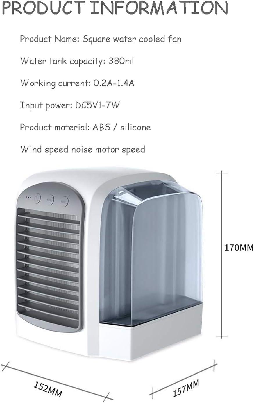 HHH Mini Enfriador Climatizador Purificador de Aire Humidificador ...