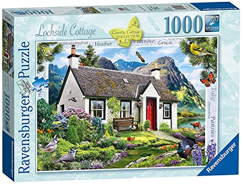 Ravensburger Country Cottage Collection No.12 - Lochside Cottage, 1000pc Jigaw Puzzle