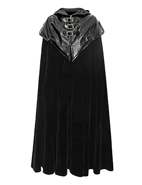 Gothic Mens Fashion Punk Long Cloak Cape Coat Loose casual Jacket Trench Outwear