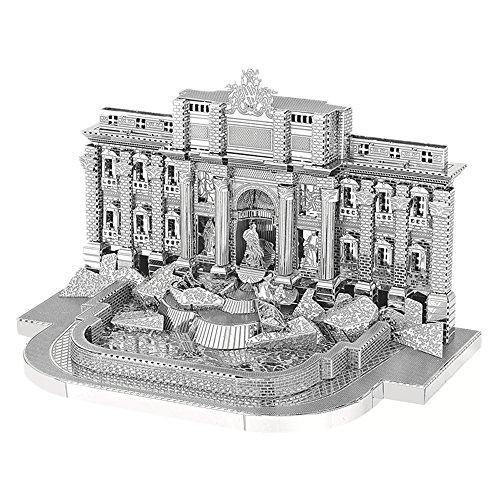 Fountain Trevi - MOTU 2018 3D Metal Puzzle Roman Trevi Fountain Building Assemble Model Kits B22205 DIY 3D Laser Cut Jigsaw Toys