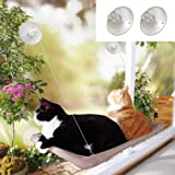 Angela&Alex Window Cat Bed, Cat Window Seat Window Perch Bed Hammock with 2 Extra Replaceable Suction Cups Space Saving…