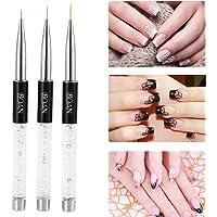 Anself Nail Art Painting Brush Crystal Acrylic UV Gel Painting Liner Pen Nylon Hair Manicure Nail Liner Tool