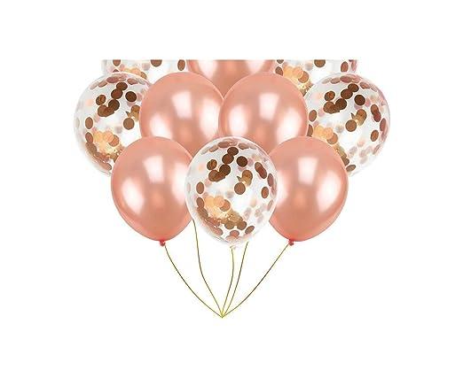 Little-Lucky Globos de cumpleaños con número de Oro Rosa, 1 ...