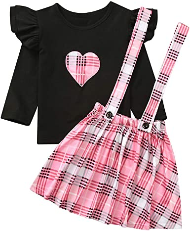 1-6 años Niñas Bebé Princesa Falda Niña Niños Día de San Valentín ...