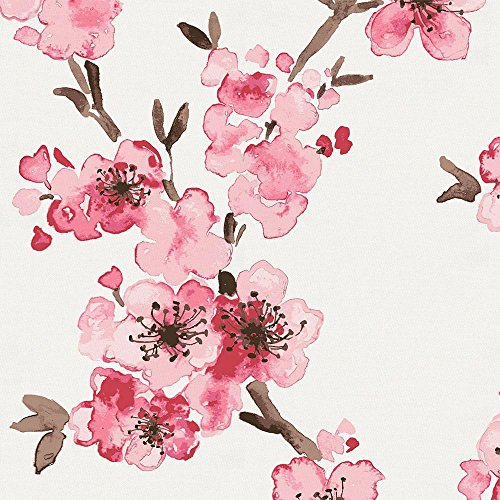 Carousel Designs Pink Cherry Blossom Fabric by the Yard - Organic 100% Cotton - Cherry Cotton Fabric