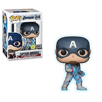 Funko Pop! Marvel Avengers Captain America Exclusive Glows In The Dark #450: Toys & Games