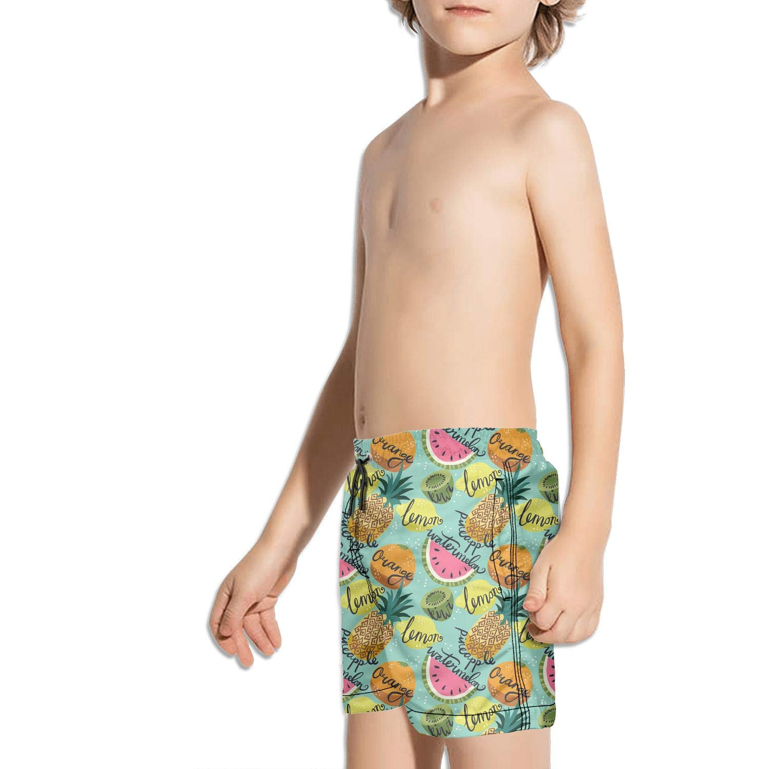 TylerLiu Fast Drying Beach Swim Trunks Pants Pink Pineapples Kids Boys and Girls