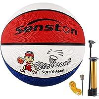 Senston Ballon de Basket-Ball Basketball Enfant Caoutchouc Doux et Bouncy Basketball Extérieur et intérieur-Taille 3/5