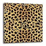Cheap 3dRose Janna Salak Designs Cheetah Animal Print Wall Clock, 10 by 10-Inch