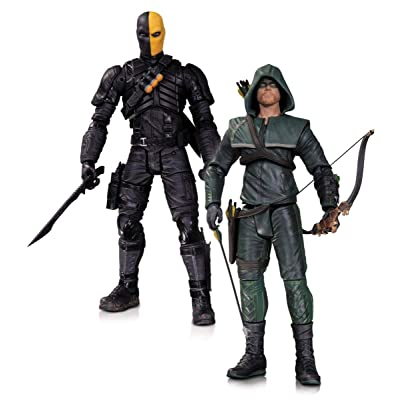 DC Collectibles Arrow Oliver Queen and Deathstroke Action Figure, 2-Pack: Toys & Games