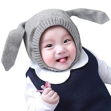 a927b9dd4cf3c ... Gorro Unisex Bebe Niño Niña Otoño Invierno Calentar Pequeña Oreja de Conejo  Gorro Linda Sombrero de Niño 1-3 años de Edad  Amazon.es  Ropa y accesorios