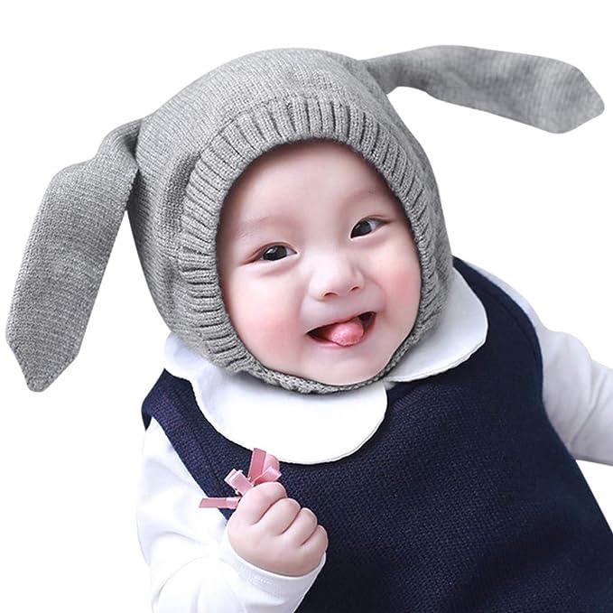 DORRISO Cappello Bambino Autunno Invernale Carina Piccolo Orecchio di  Coniglio Beanie Cappelli Berretto Bambini Infantili del Cappello per Under  3 ... e41a0ea1db04