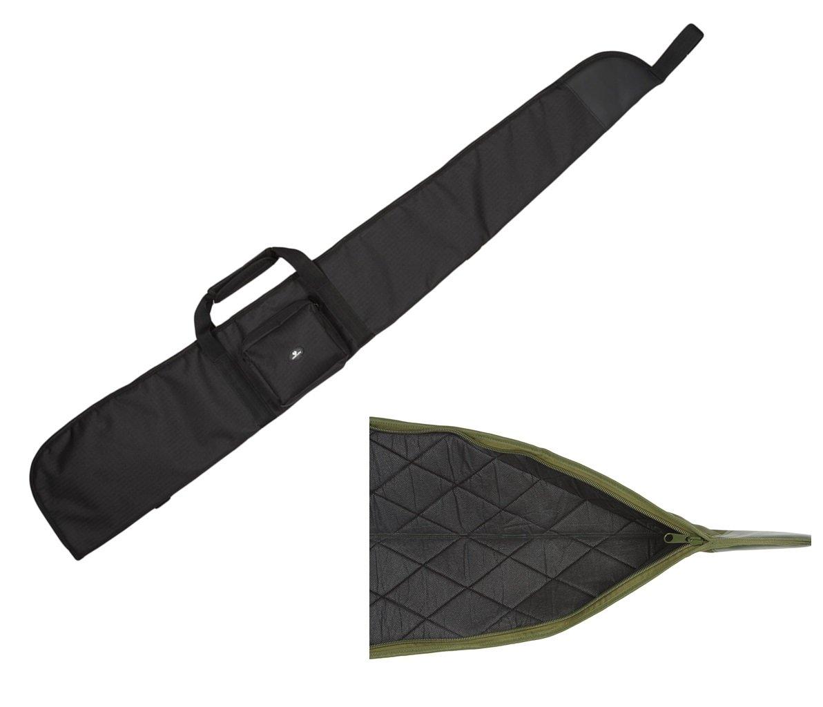 Case4Life Negro Acolchado Protector Rifle de aire Caso / Escopeta / Bolsa de caza + Desmontable acolchado Bandolera - Garantía de por vida 12-AIR