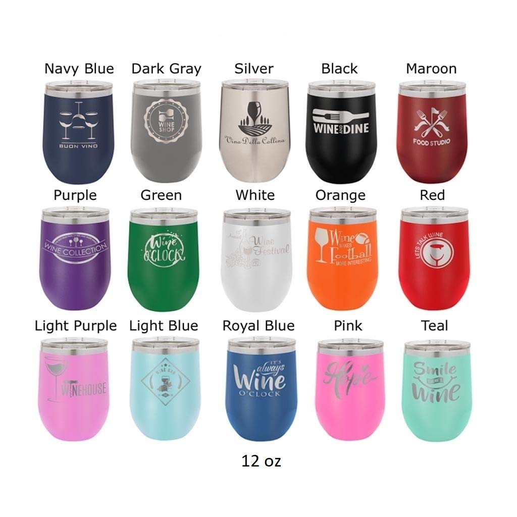 Mother of the Bride - Stainless Steel Tumbler with Clear Lid - Choice of 12 oz, 20 oz, 30 oz Tumblers, Colors, Spill Proof Slide Lid, Titles, Name & Date - Custom Engraved - Bridal Party, Wedding Gift