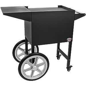 Concession Land - Black Popcorn Cart for 8 oz. Popcorn Machine