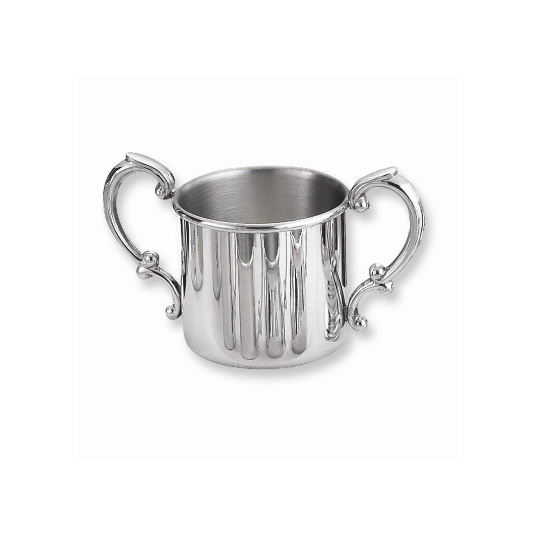 ICE CARATS Pewter Double Handle Baby Cup Fashion Jewelry Gift Set For Women Heart