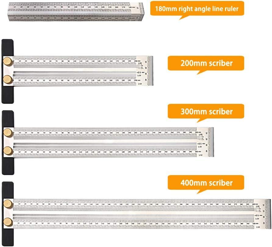 TE hot Ma/ßstab Lineal T-Loch Lineal Edelstahl Holzbearbeitung Schreibmarkierung Strichst/ärke Zimmermann Messwerkzeug