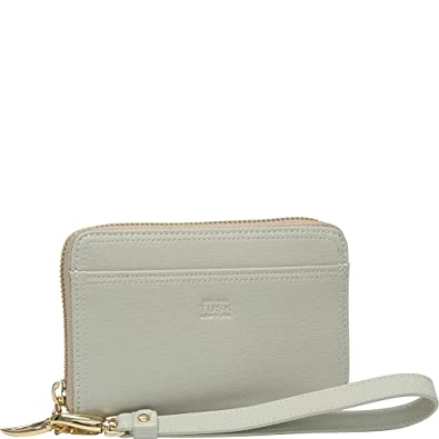 f6f99c406369 Amazon.com  Tusk Madison Womens Leather Zippered Wristlet Wallet w   smartphone Pocket - Bone  Shoes