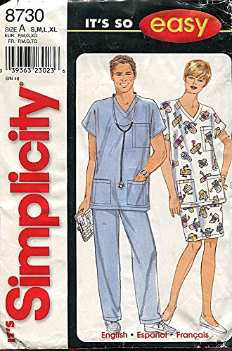 Simplicity Pattern 8730 Misses', Men's or Teens' Top, Skirt and Pants, Size A (S-XL)