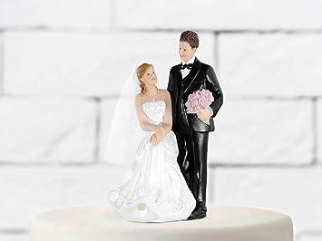 Tortenfigur Hochzeitspaar Elegant Tortendeko Hochzeit Deko Amazon
