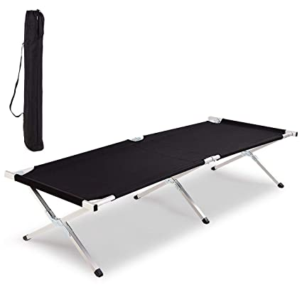 Best Camping Bed >> Amazon Com Heize Best Price Black Folding Camping Cot X