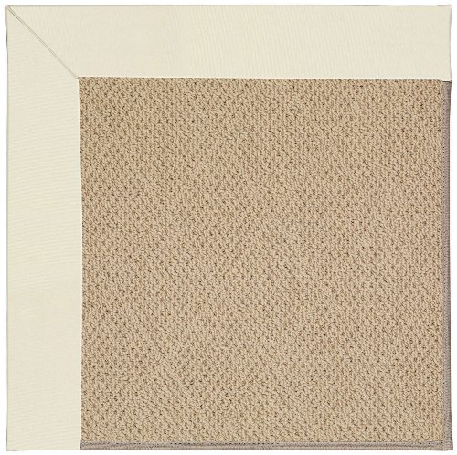 Capel Rugs Zoe-Cane Wicker Rectangle Machine Tufted Area Rug, 5' x 8', Alabaster ()